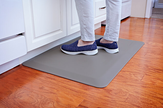 SimplyPerfect™ anti-fatigue mat used in a kitchen.